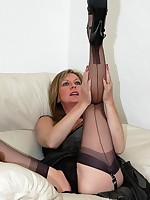 toy fun for milf in nylons - Granny Lingerie
