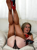 sheer fun in nylons and panties - Granny Lingerie