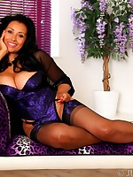 Danica Collins in classy corset, stockings and heels - Girdles Granny